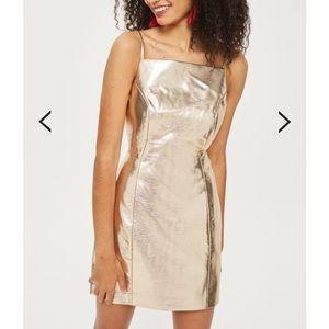 Topshop Gold Dress